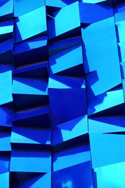 Photograph - Building Blocks In Blue by Don Columbus