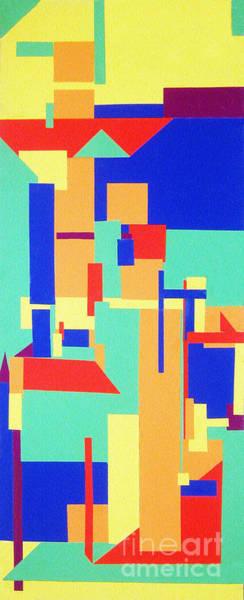 Primary Colors Mixed Media - Geometrics by Raquel Bright