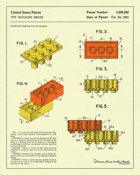 Artistic Digital Art - Building Bricks 1961 by Jazzberry Blue