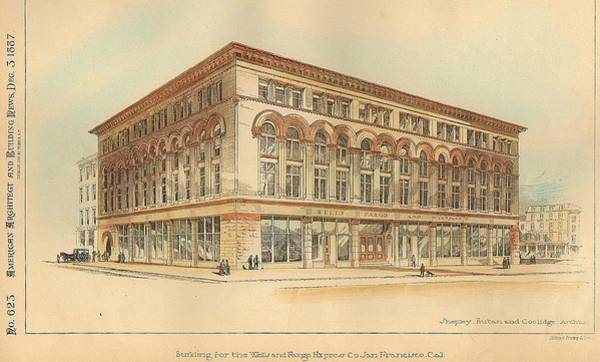 Saving Painting - Building For The Wells And Fargo Express Company San Francisco California 1887 by Shepley Rutan And Coolidge