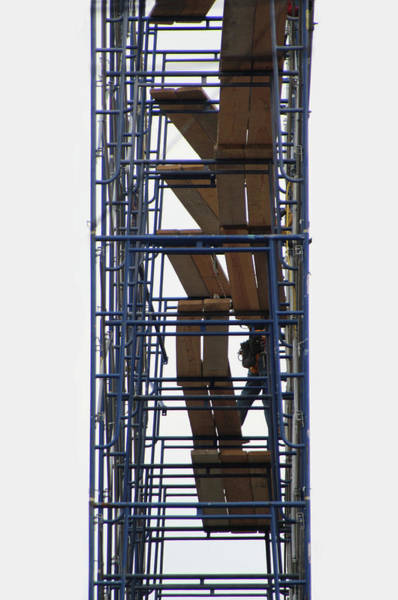Photograph - Building Scaffolding  by Doc Braham