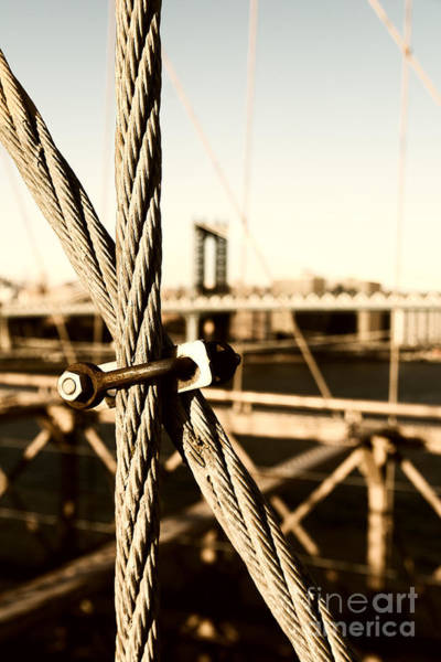 Photograph - Building The Brooklyn Bridge by Alissa Beth Photography