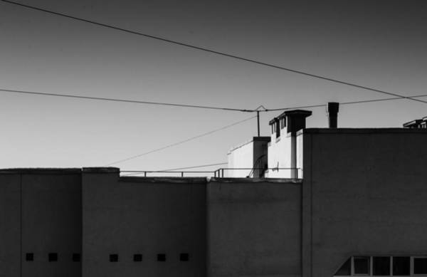 Photograph - Buildings At Dusk In Monochrome by John Williams