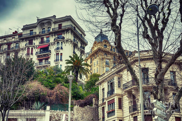 Photograph - buildings background from Nice,  France by Ariadna De Raadt