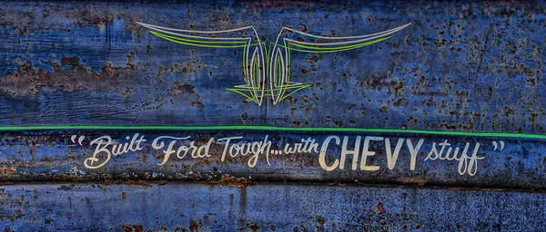 Wall Art - Photograph - Built Ford Tough With Chevy Stuff by Alan Hutchins