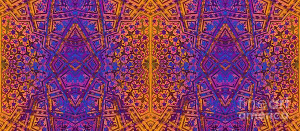 Digital Art - Bukhara Flower Dome Mug by Mamoun Sakkal