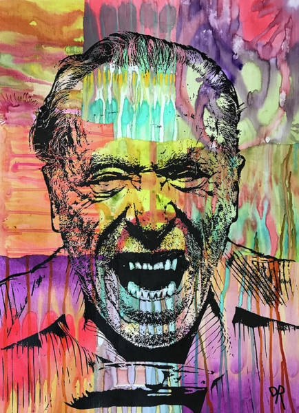 Painting - Bukowski by Dean Russo Art