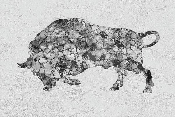 Wall Art - Painting - Bull Buffalo by Jack Zulli
