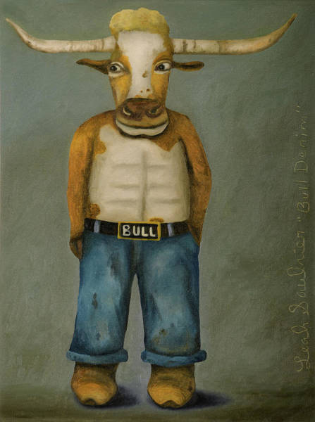 Painting - Bull Denim by Leah Saulnier The Painting Maniac