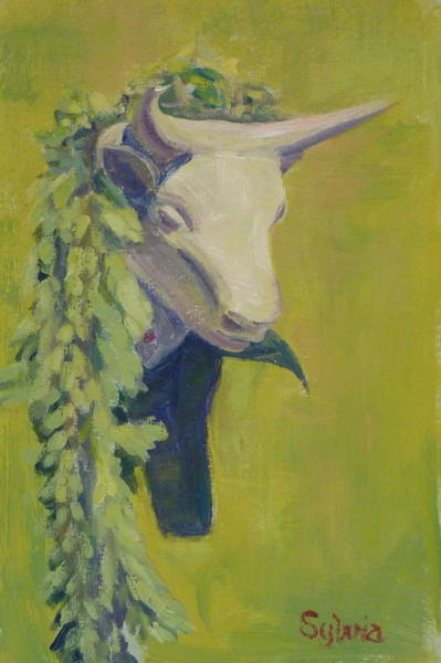Wall Art - Painting - Bull Headed by Sylvia Carlton