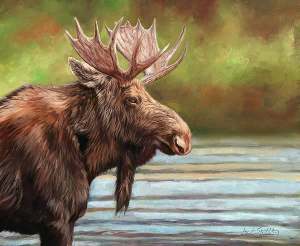 Painting - Bull Moose by David Stribbling