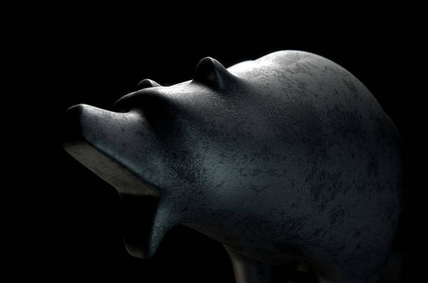 Wall Art - Digital Art - Bull Statue by Allan Swart