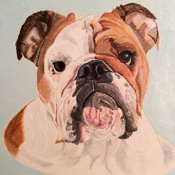 Bulldog Beauty Art Print