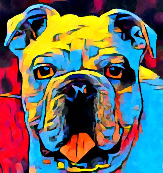 Wall Art - Painting - Bulldog by Chris Butler