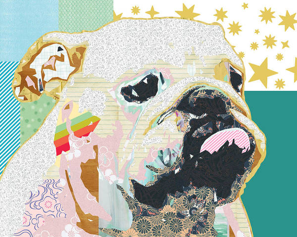 Bulldog Collage Art Print