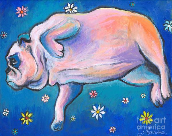 Painting - Bulldog Dreams by Svetlana Novikova