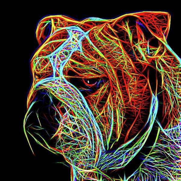 Dod Digital Art - Bulldog English by Alexey Bazhan