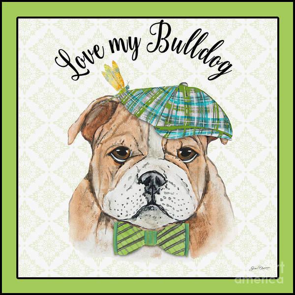 English Bulldog Painting - Bulldog-jp3864 by Jean Plout