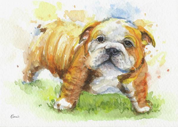 Mutt Painting - Bulldog by Kathleen Wong