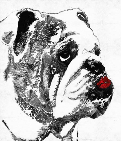 Wall Art - Painting - Bulldog Pop Art - How Bout A Kiss 2 - By Sharon Cummings by Sharon Cummings
