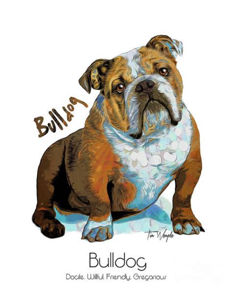 Digital Art - Bulldog Pop Art by Tim Wemple