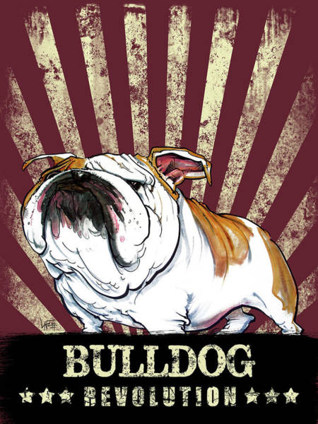 Drawing - Bulldog Revolution by John LaFree