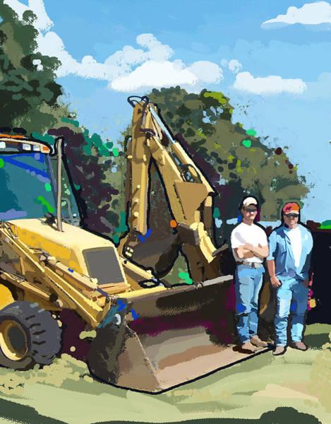 Construction Painting - Bulldozer Guys by Brad Burns