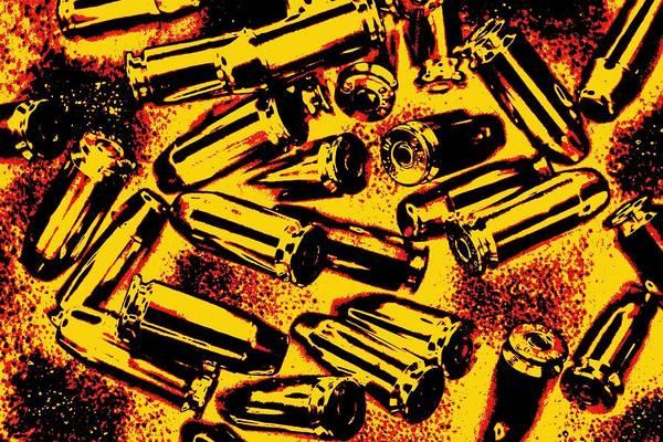 Shooting Mixed Media - Bullets And Gunpowder by Dan Sproul