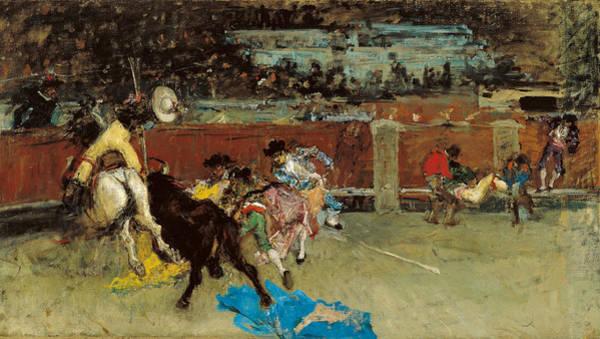 Torro Painting - Bullfight by Maria Fortuny