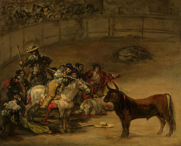 Painting - Bullfight, Suerte De Varas by Francisco Goya
