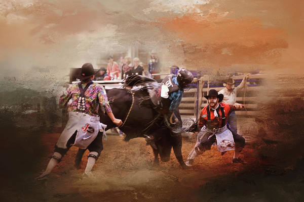 Wall Art - Photograph - Bullfighters In Action by Toni Hopper