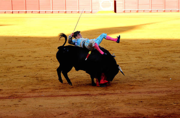Photograph - Bullfighting 24 by Andrew Fare