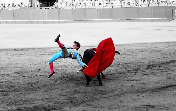 Photograph - Bullfighting 25d by Andrew Fare
