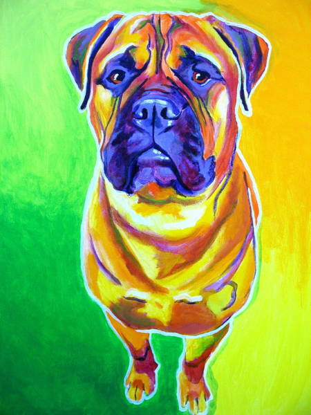 Wall Art - Painting - Bullmastiff - Maverick by Alicia VanNoy Call