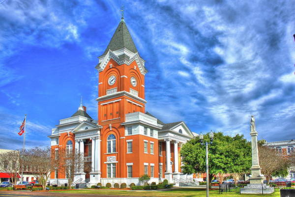 Queen Anne Style Photograph - Bulloch County Courthouse Statesboro Georgia by Reid Callaway