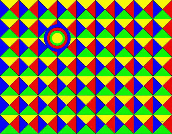 Borden Digital Art - Bullseye by Will Borden