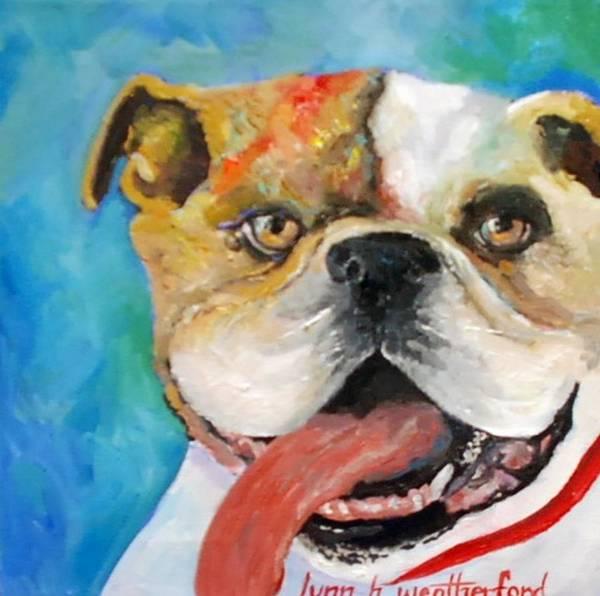 English Bulldog Painting - Bully by Lynn Weatherford