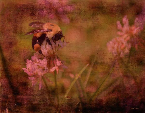 Mixed Media - Bumble Bee Serenade by Lesa Fine
