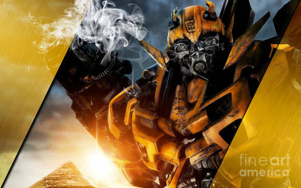 Super Hero Mixed Media - Bumblebee Transformers Collection by Marvin Blaine