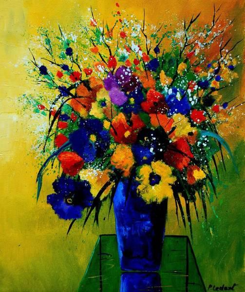 Blue Cornflower Painting - Bunch 0508 by Pol Ledent