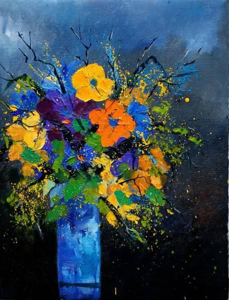 Blue Cornflower Painting - Bunch 1007 by Pol Ledent