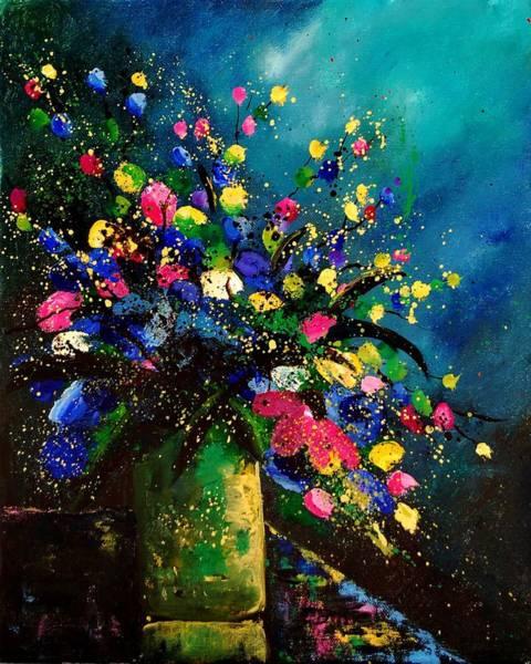 Blue Cornflower Painting - Bunch 45 by Pol Ledent