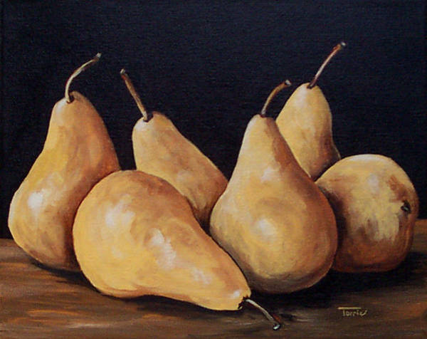 Bunch Of Bosc Pears  Art Print
