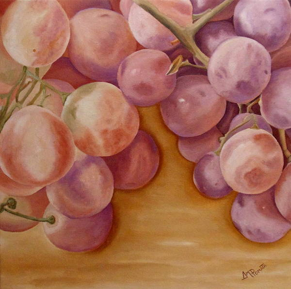 Painting - Bunch Of Grapes by Angeles M Pomata