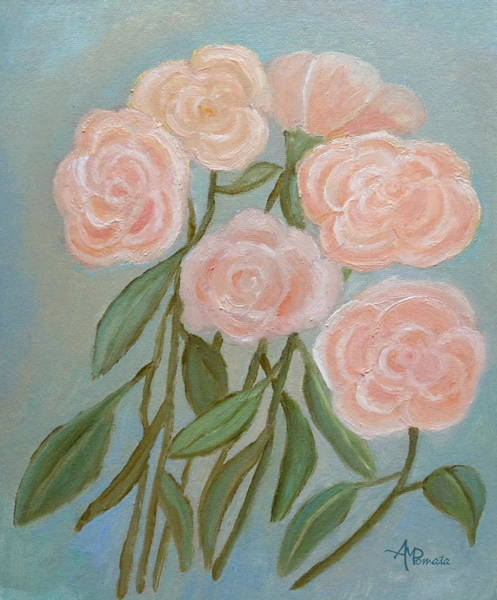 Painting - Bunch Of Roses by Angeles M Pomata