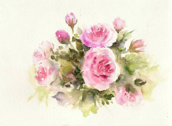 Painting - Bunch Of Roses by Asha Sudhaker Shenoy
