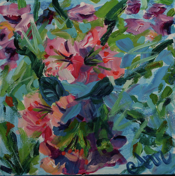 Wall Art - Painting - Bunches Of Colors by Ann Lutz