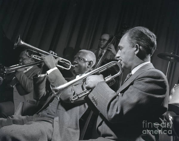 Wall Art - Photograph - Bunk Johnson With The Doc Evans Band by The Harrington Collection