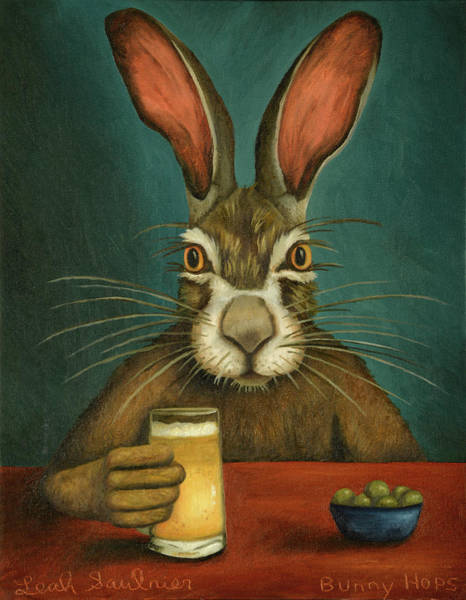 Painting - Bunny Hops by Leah Saulnier The Painting Maniac