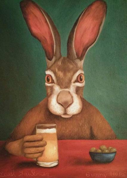 Painting - Bunny Hops Work In Progress by Leah Saulnier The Painting Maniac